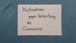 Maßnahmen gegen Verbreitung des Coronavirus